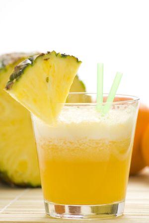 refreshing and creamy pineapple and orange milkshake Stock Photo - 4852331
