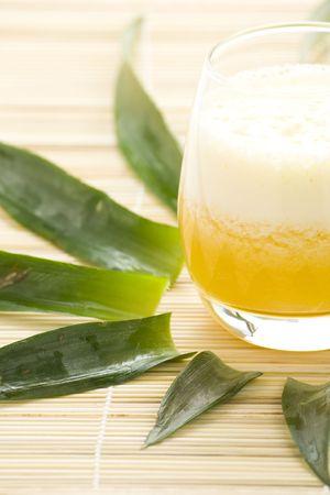 refreshing and creamy pineapple and orange milkshake Stock Photo - 4852327