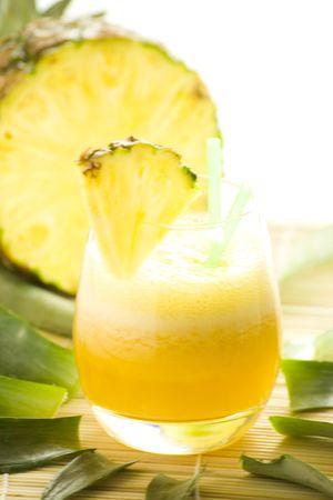 refreshing and creamy pineapple and orange milkshake photo