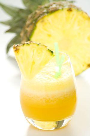 refreshing and creamy pineapple and orange milkshake Stock Photo - 4852329