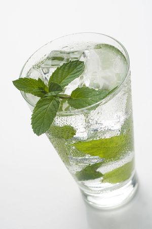 mojito cool cuban cocktail ice lime mint  isolated