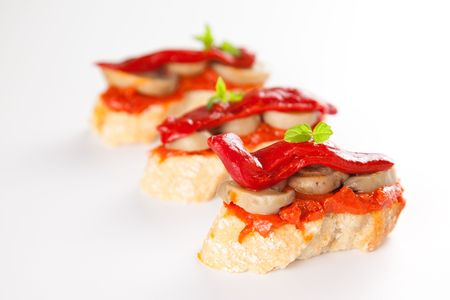 delicious tapas spanish food cousine culture isolated photo