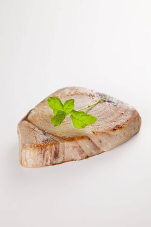 tuna fillet: tasty tuna steak prepared whith fresh vegetables Stock Photo