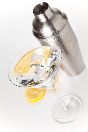 stainless azero shaker isolated over white background