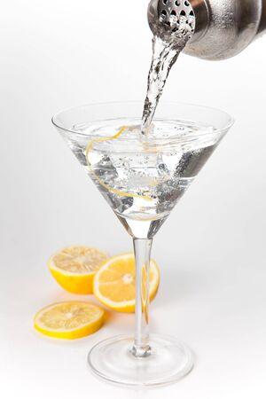 martini shaker: stainless azero shaker isolated over white background