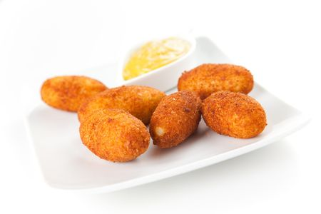 ham and cheese croquettes typical Spanish cuisine