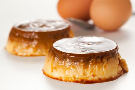 flan: tasty home made egg flan with caramel