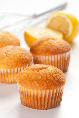 magdalena: tasty magdalena, homemade sweet with lemon and sugar