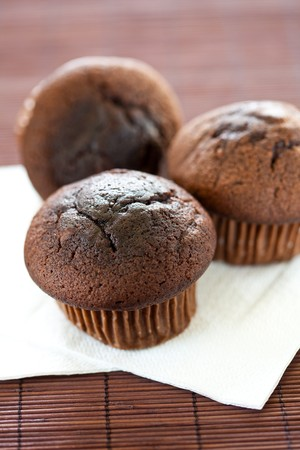 choco chips: homemade tasty chocolate muffin with choco chips