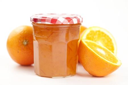 jam jar: tasty home made marmelade isolated over white