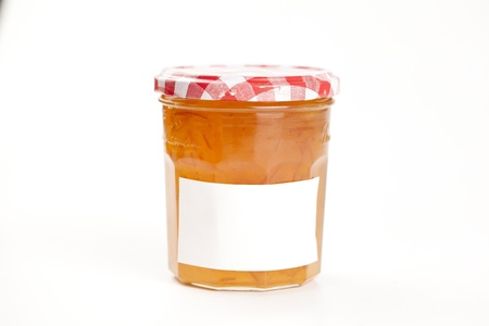 marmalade: tasty home made marmelade isolated over white
