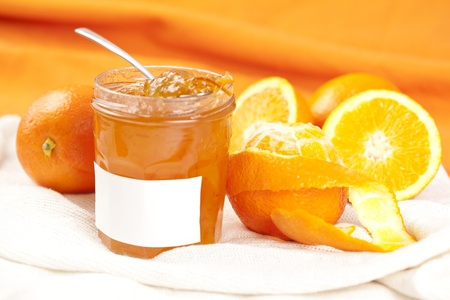 tasty home made marmelade isolated over white photo