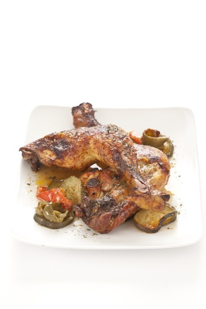 roasted chicken: Roasted Chicken with red and green pepper