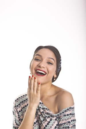 Georgeus Latina Young Woman in dress moles and diadem photo