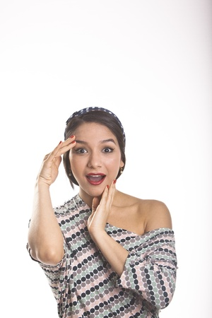 Georgeus Latina Young Woman in dress moles and diadem Stock Photo - 13770442