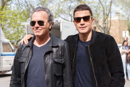 starring: Granada, Spain April 13, 2015: Starring television series The Prince Jos Gonzlez Coronado and Alex during filming