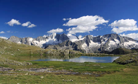 val: Strino lake, in Val di Sole, italian alps