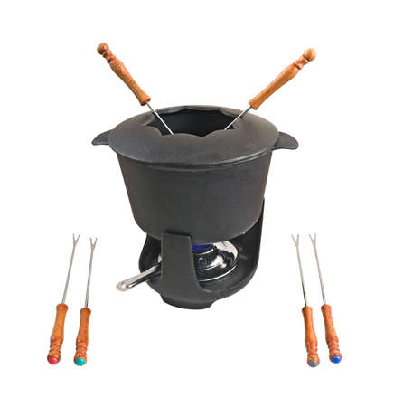 cast iron fondue set (3)