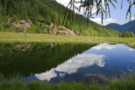 Lake Covel, Pejo (Italy) Stock Photo