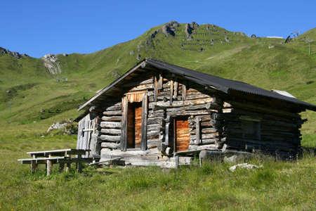 Characteristic mountain house called Baita