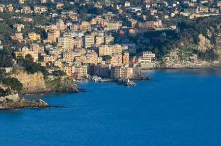 genoa: Camogli is a  characteristic famous little town near Genoa, Italy