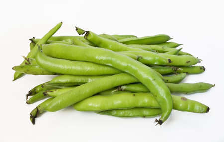 A group of fava on white isolated background