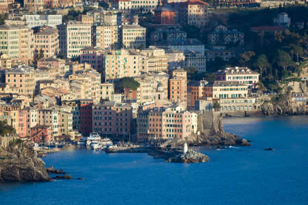 Camogli is a  characteristic famous little town near Genoa, Italy photo