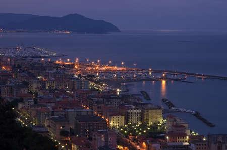 dawn in Chiavari a beautiful small city near Genova Stock Photo