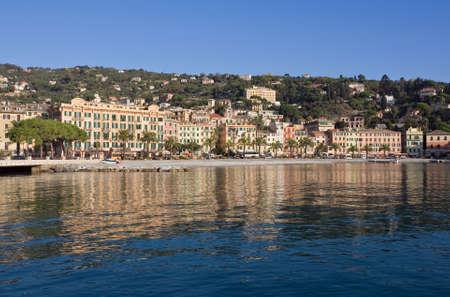 Cityscape of  S.Margherita Ligure, famous small town in Liguria, Italy near Portofimo