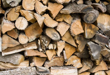 stockpiling: a stack of wood ready to be burned