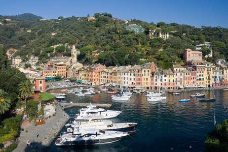 Panorama of Portofino, famous small town near Genova, Italy