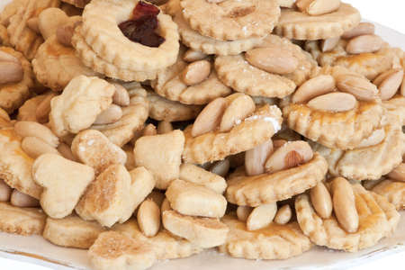 homemade almond cookies close up photo
