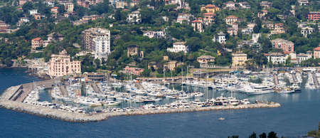 aerial view of Rapallo marina in mediterranean sea. Rapallo is a small town near Genova in Liguria, Italy Stock Photo - 6524339