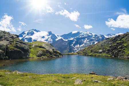 Summer view of Black Lake against the light, Trentino, Italy Stock Photo - 6719183