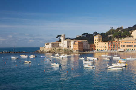 buliding: Silence bay in Sestri Levante, famous small town in Liguria, Italy