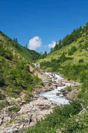 beautiful stream between rocks in Veny valley, Italy Stock Photo - 8254230
