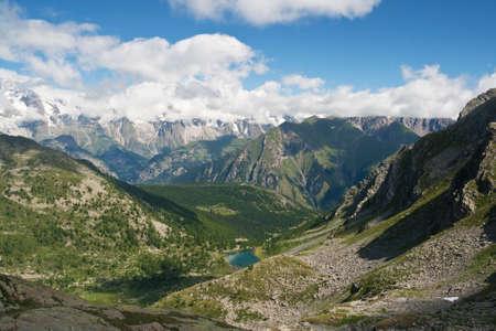 aosta: summer landscape of Italian Alps in Aosta Valley