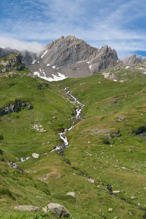 summer view of Torveraz valley, Italian Alps Stock Photo - 9036830