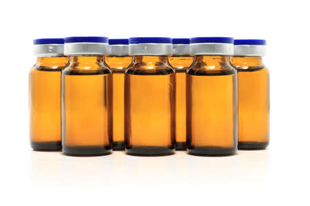 group of glass bottles with medicine  Stock Photo - 9118604