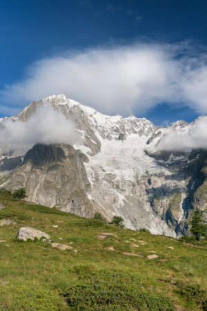 summer view Mont Blanc massif, Italy. photo