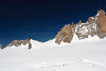 Aiguille du Midi - Mont Blanc and Mer de Glace glacier photo