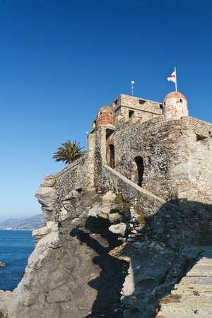 medioeval: Medioeval castle in Camogli, Italy