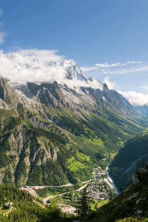Ferret Valley with Mont Blanc tunnel, Courmayeur, Italy photo