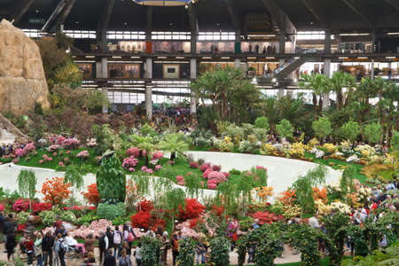 horticultural: april 22, 2011 Genova, Italy: stand in Euroflora, the most important italian horticultural show held every 5 years  in Genoa.