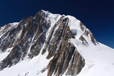mont: Mont Blanc massif on summer