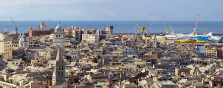Panoramic view of Genova, Italy