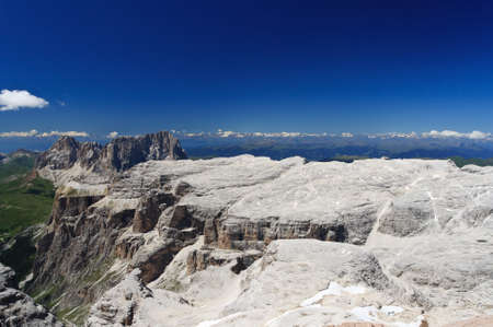 extreme landscape in Sella mountain, Trentino Italy photo