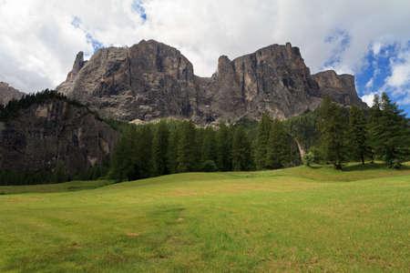 sud tirol: Sella mountain from Colfosco, Italian Dolomites