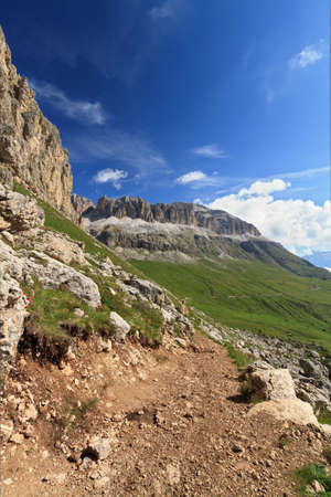 clearness: summer view of Italian Dolomites over Pordoi pass