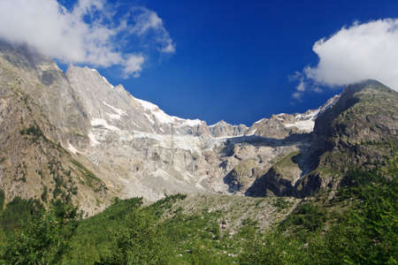 Miage glacier in Mont Blanc massif, Courmayeur, Italy photo